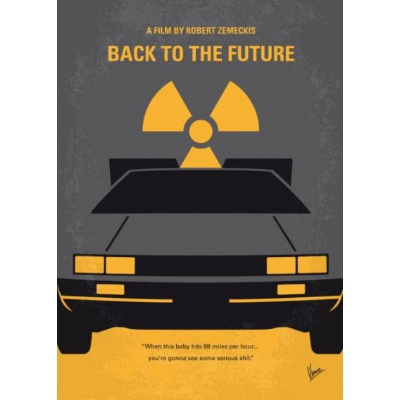 Poster Mural Metal Delorean