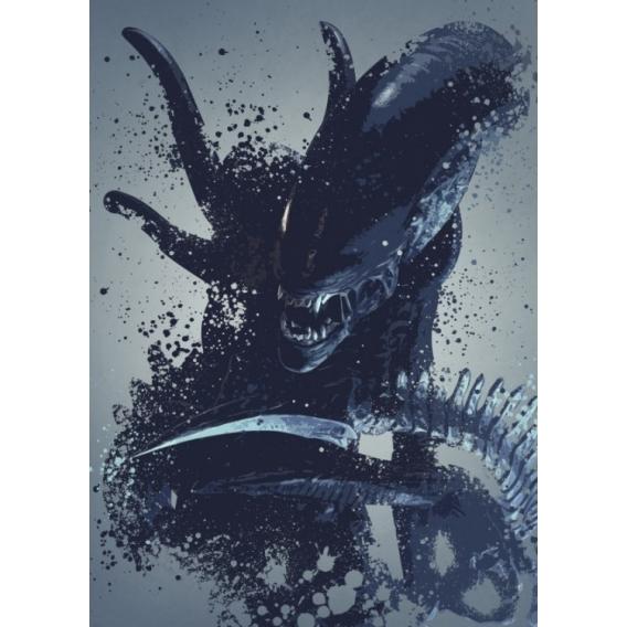 Poster Mural Metal Alien