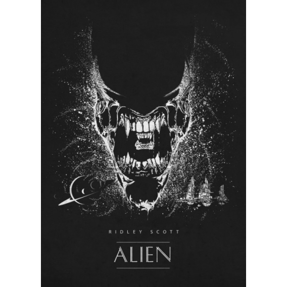 Alien Shadow Metal Poster