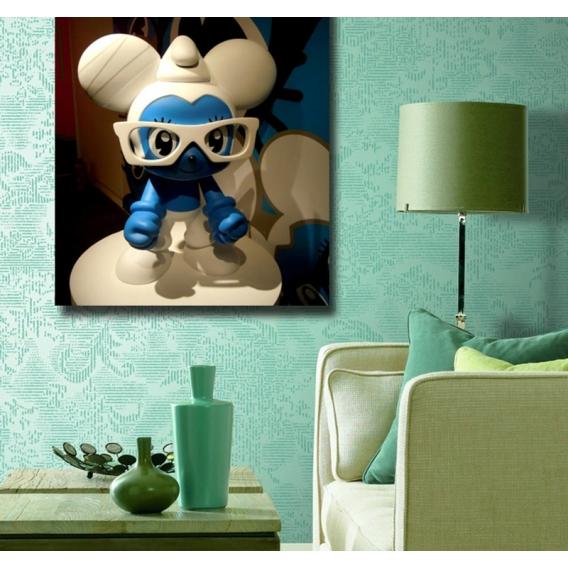 Tableau Deco Schtroumpf Bleu