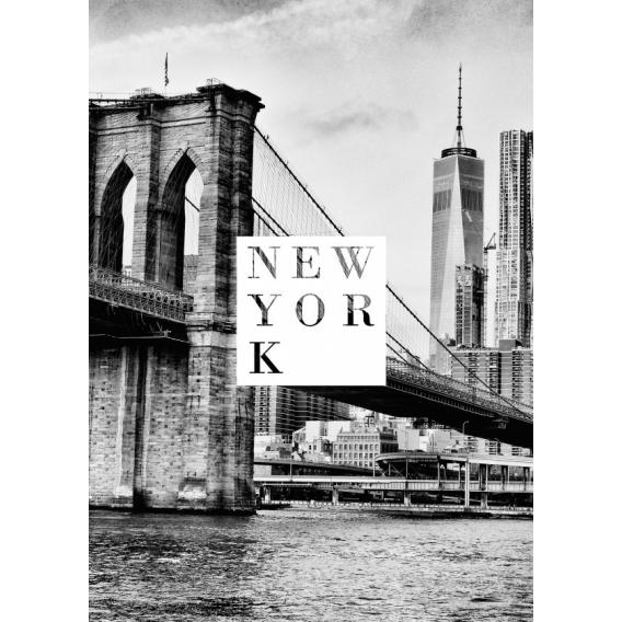 Poster Blanc et Noir New york