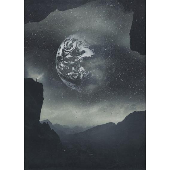 Stellar Black and White Poster