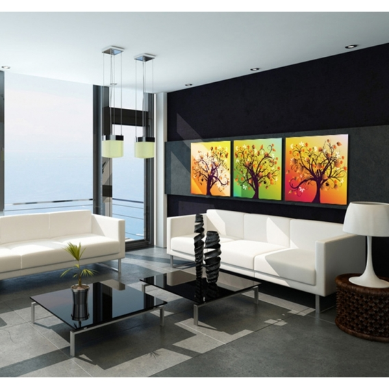 Happiness Tree Abstract Canvas Prints