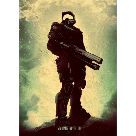 Halo Master Spartan Wall Poster