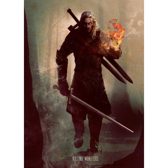 The White Wolf Metal Poster