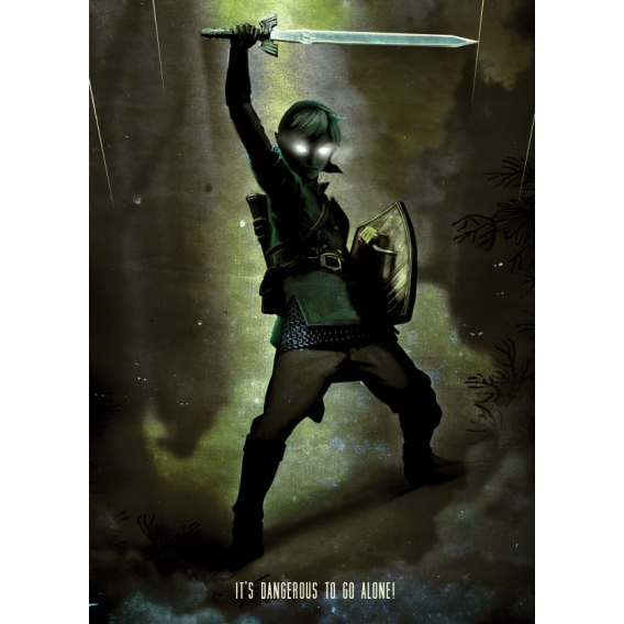 Dark Link Metal Wall Poster