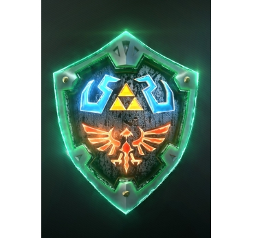 3D link Hylian Shield