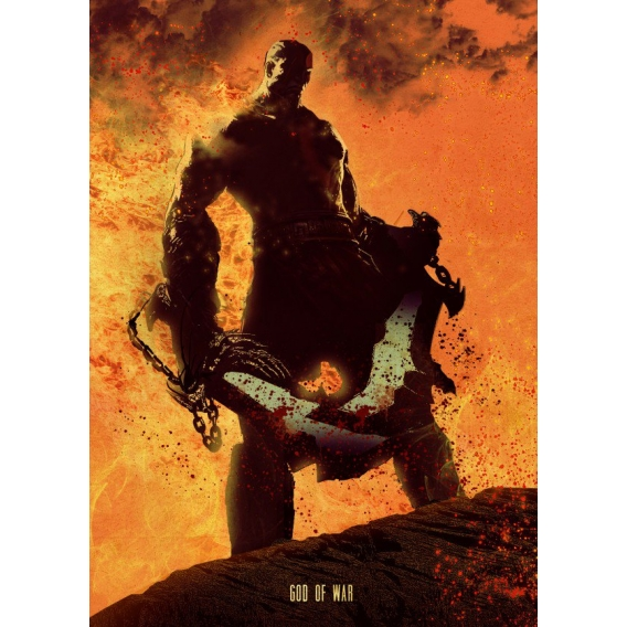 God of War Metallic Poster