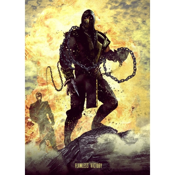 Affiche Métallique Mortal Scorpion