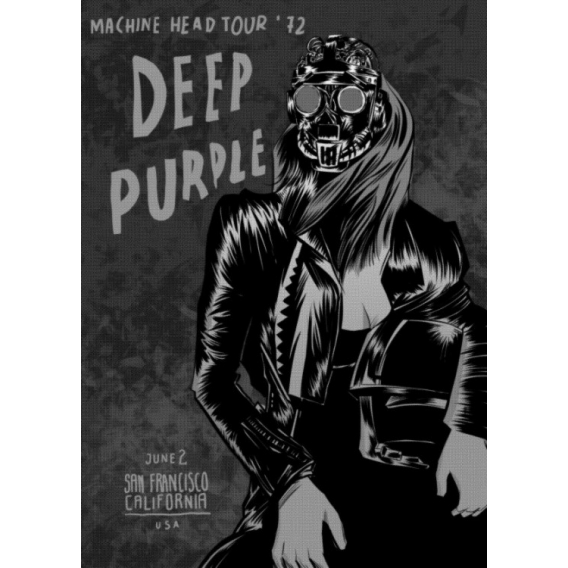 Deep Purple Metal Poster