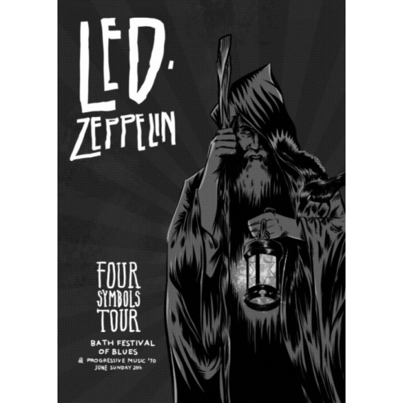 Led Zeppelin Metallic Poster
