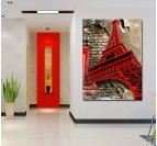 Eiffel Tower Modern Canvas