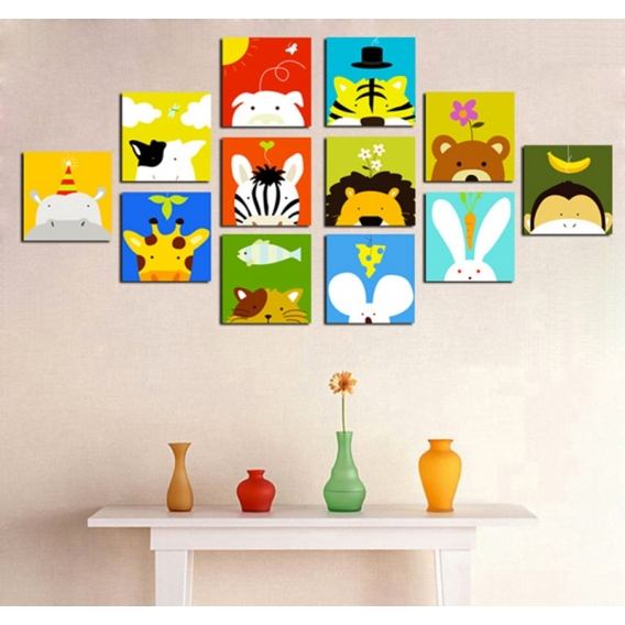 Funny Animals Decorative Art Print