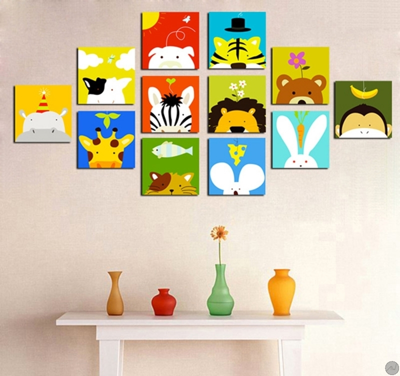 Tableaux animaux funny animals for Tableau deco chambre enfant