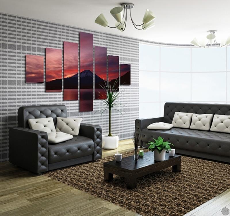tableau design volcano. Black Bedroom Furniture Sets. Home Design Ideas