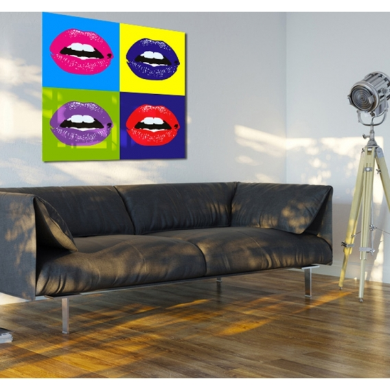 tableau contemporain pop art mouth. Black Bedroom Furniture Sets. Home Design Ideas