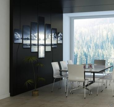 tableau paysage heaven. Black Bedroom Furniture Sets. Home Design Ideas
