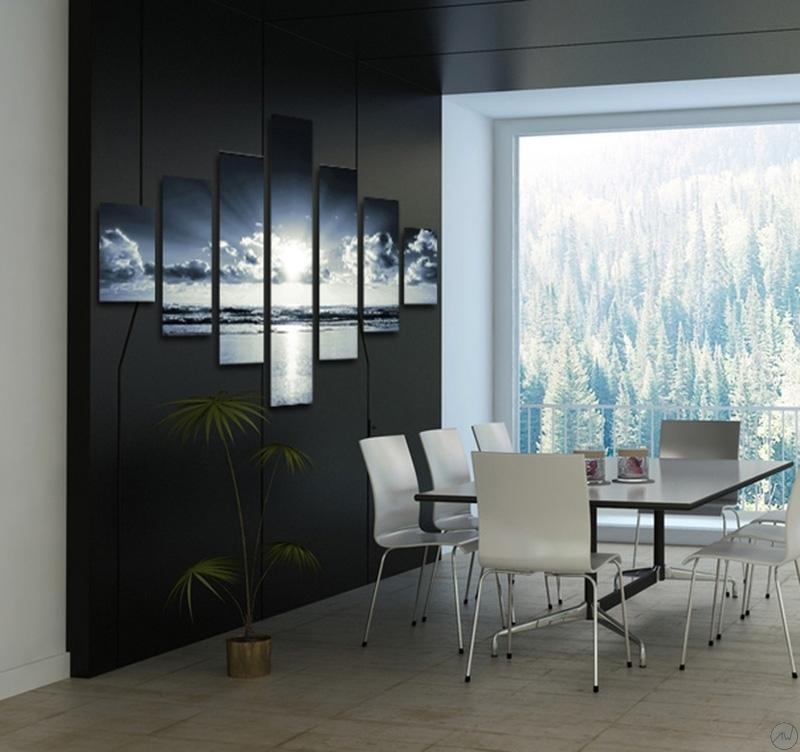Tableau paysage heaven - Tableau design noir et blanc ...