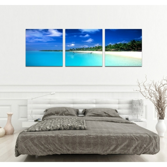 Paradise Beach Tableau Triptyque