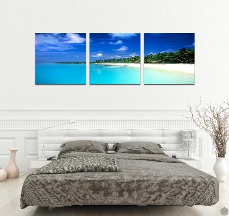 tableau xxl paradise beach. Black Bedroom Furniture Sets. Home Design Ideas