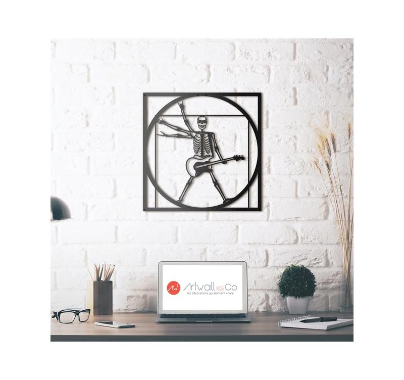 Vitruvian Rocker Metal Wall Decoration Artwall And Co