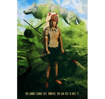Poster Métallique Mononoke nature