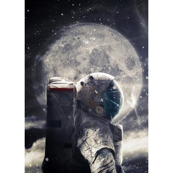 Astronaut Metal Wall Poster