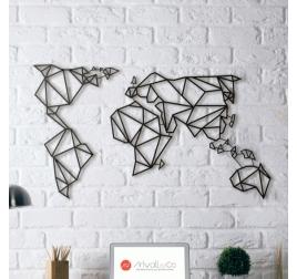 decoration murale carte du monde artwall and co. Black Bedroom Furniture Sets. Home Design Ideas
