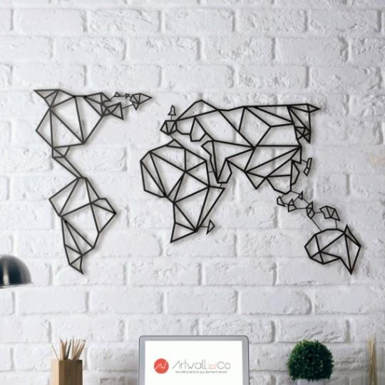 carte du monde metal Déco Métal Carte Monde   ArtWall And Co