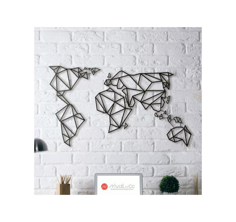 Deco Metal Carte Monde Artwall And Co