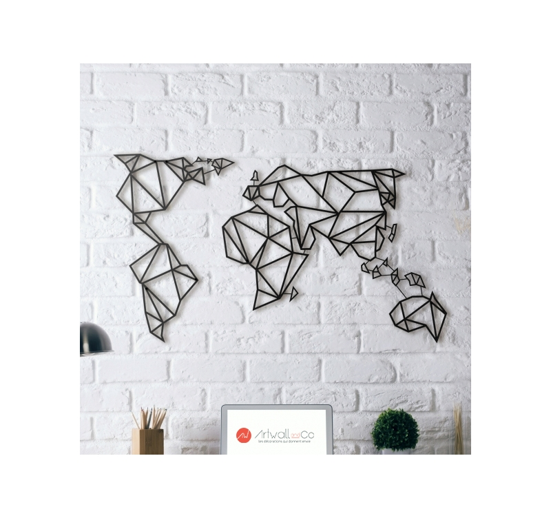 Metal Wall Decoration World Map Artwall And Co