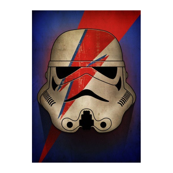 Stormtrooper Bowie Wall Poster