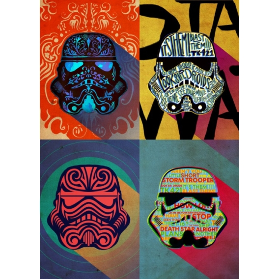 Trooper Metallic Design Poster