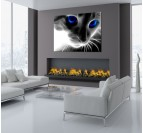 Abstract Cat Modern Art Print