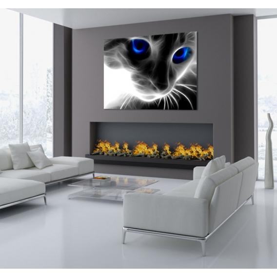 Abstract Cat Modern Art Print