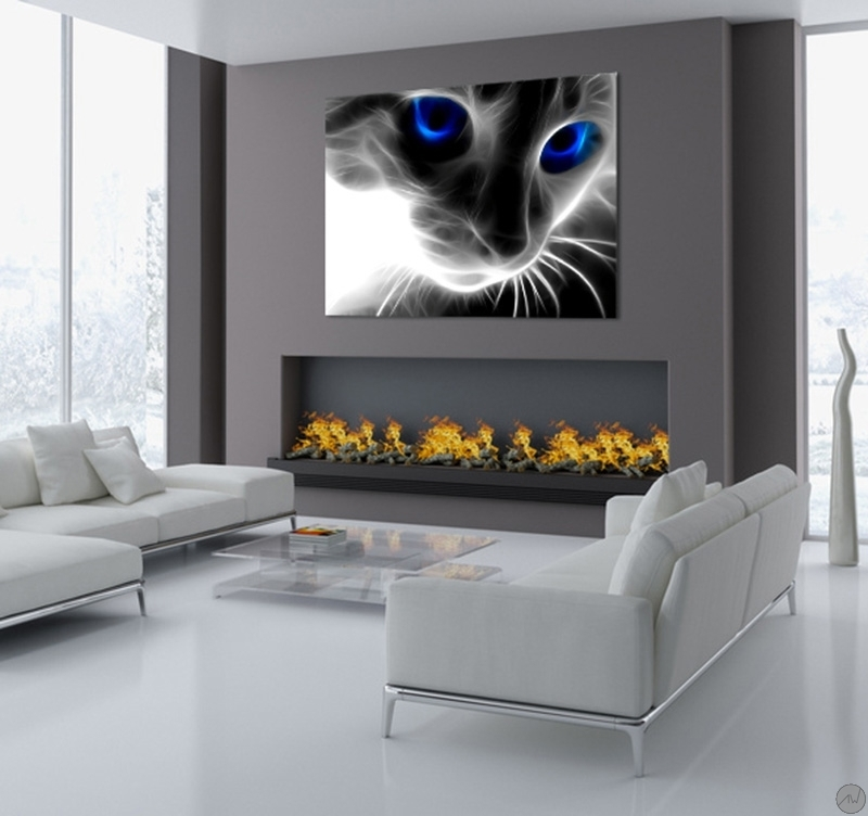 Abstract Cat Modern Art Print Artwall And Co