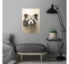 Poster métal petit panda