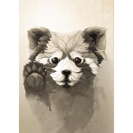 Poster Mural Metal Petit Panda