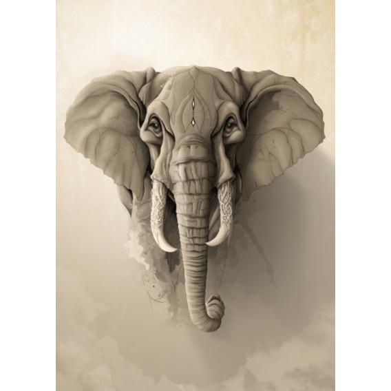 Saint Elephant Metal Wall Poster