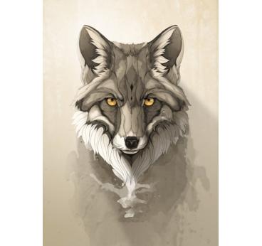 Poster métal renard