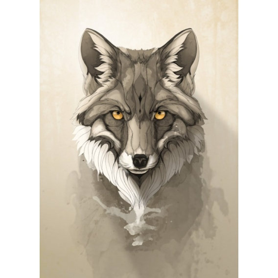 Metal Wall Poster Fox
