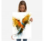 Poster métal perroquet