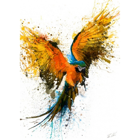 Wall Poster Metal Parrot