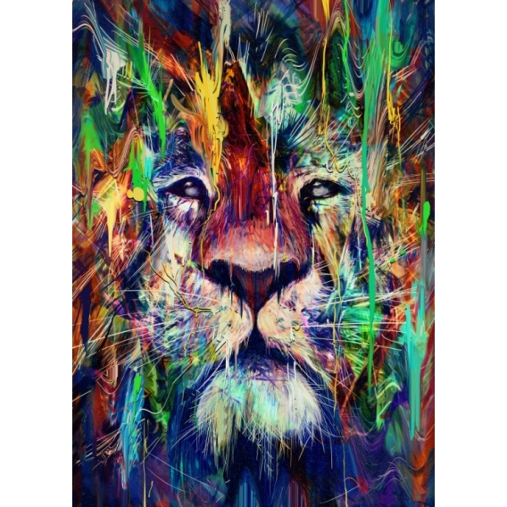 Poster Metal Lion Pop Art