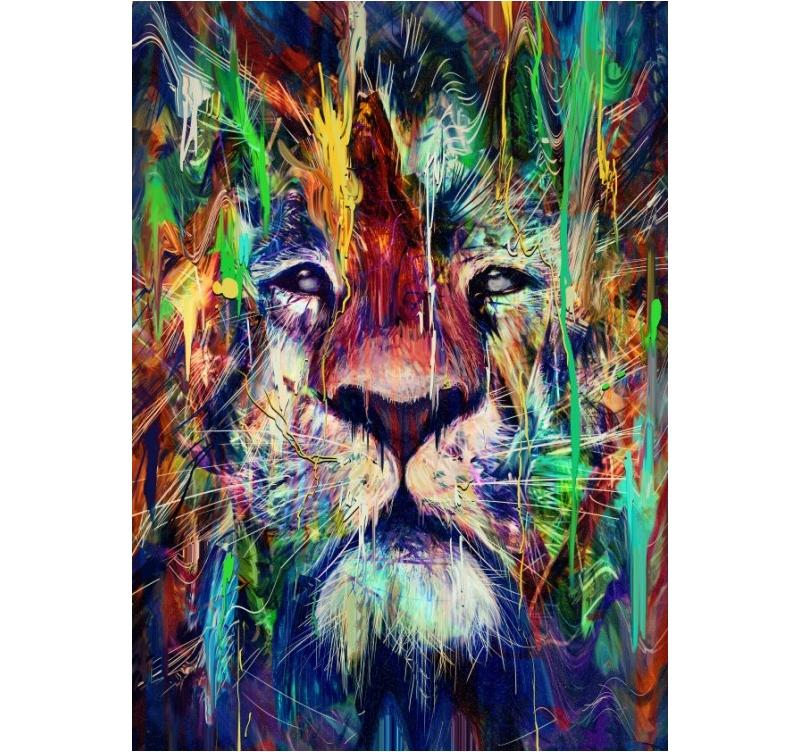 Metal Lion Pop Art Poster Artwall And Co