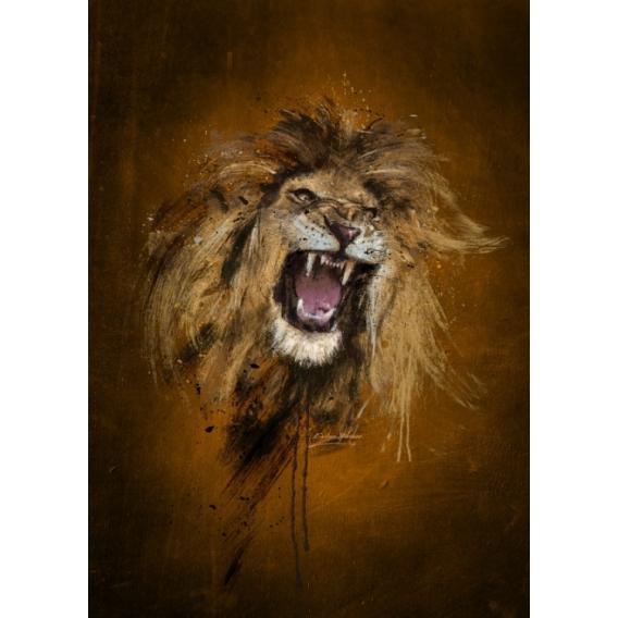 Fury of Lion Metal Poster