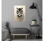Poster Metal Tigre Nature