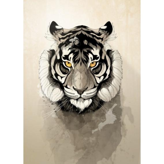 Design Tiger Metal Wall Poster