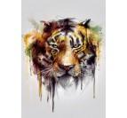 Poster Métal Tigre Peinture