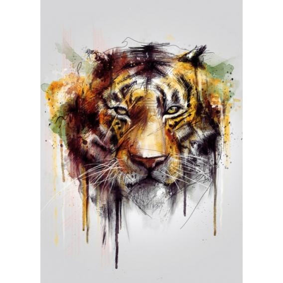 Poster Métal Tigre Portrait